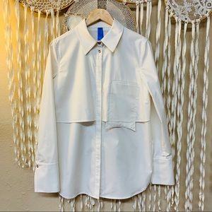 Kit & Ace Ecru Long Sleeve Button Down Shirt 8